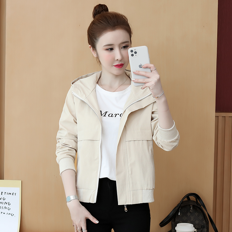 Autumn new long sleeve embroidered Hooded Jacket Womens fashion loose Top Jacket Womens cardigan 6212
