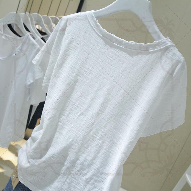 潮短袖夏季刺绣花纯白色2019 t恤12月01日最新优惠