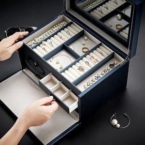 带锁大容量首饰盒公主欧式韩国奢华高档饰品收纳盒结婚送礼