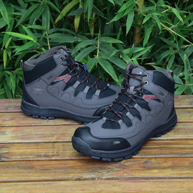 Anti skid wear resistant mens high top outdoor mountaineering shoes waterproof shock absorption large size hiking shoes