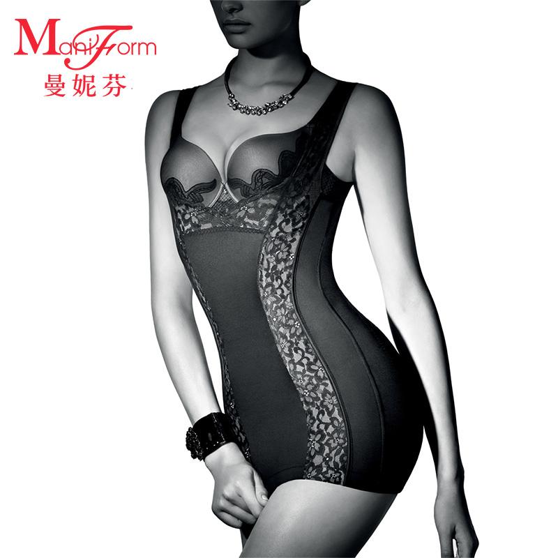 99.00元包邮曼妮芬性感蕾丝薄款修身收腹束胸美体塑身衣女F束腰提托美形轻薄