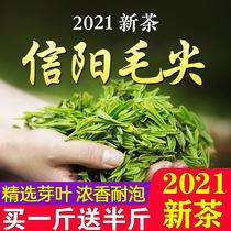 茶叶买一斤送半斤信阳毛尖2021新茶雨前春茶散装浓香绿茶250g