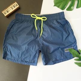 男士沙滩短裤 纯色泳裤宽松 海边度假沙滩套装轻薄面料舒适内衬潮