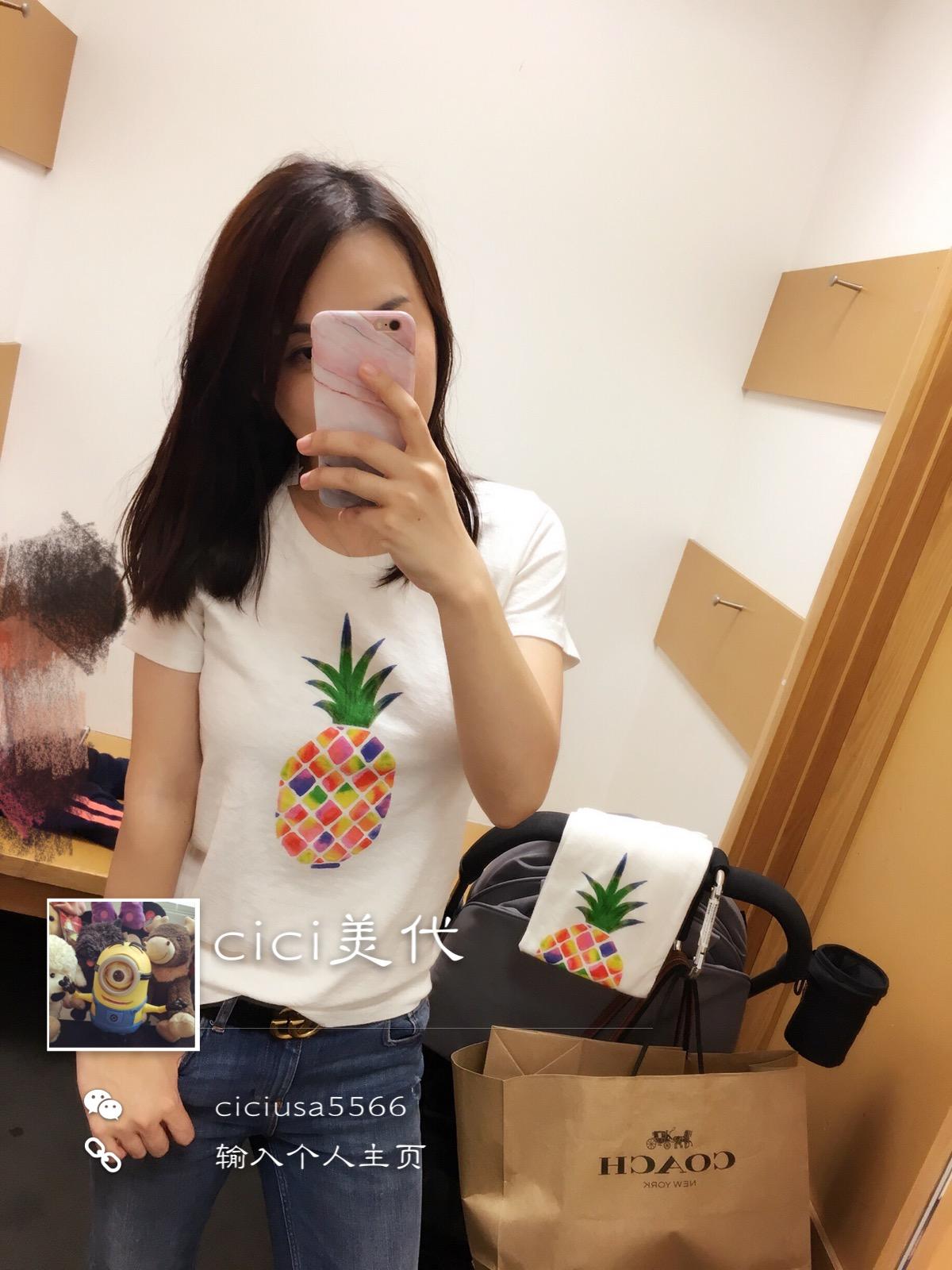 美国代购J crew 夏日棉质女款T恤 拼邮回国