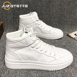 男鞋百搭休闲2021年新款潮牌高帮板鞋春秋韩版潮流小白鞋子男潮鞋