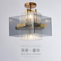 美式北欧全铜卧室灯简约现代客厅大气家用房间灯书房创意吸顶灯