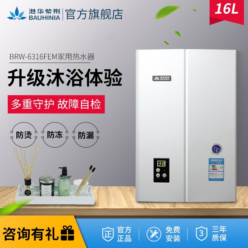 香港港华紫荆燃气热水器16L升强排式恒温家用林内代工BRW-6316FEM满4460.00元可用1元优惠券