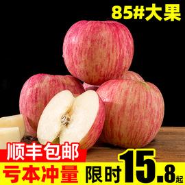 順豐山東煙臺棲霞紅富士丑蘋果冰糖心當季新鮮水果10整箱斤裝脆甜圖片