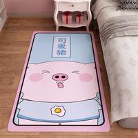 卧室ins粉色少女心床边家用可地垫性价比好不好