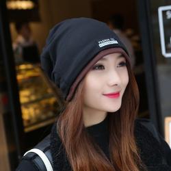 帽子女秋冬包头帽时尚头巾帽多用围脖睡帽韩版潮套头帽双层月子帽