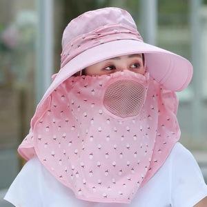 夏天大沿遮阳帽子女 户外防晒遮脸帽百搭防紫外线骑车出游太阳帽