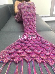 2018 Super Blanket Soft Sofa Tail Mermaid Crochete Hand Warm