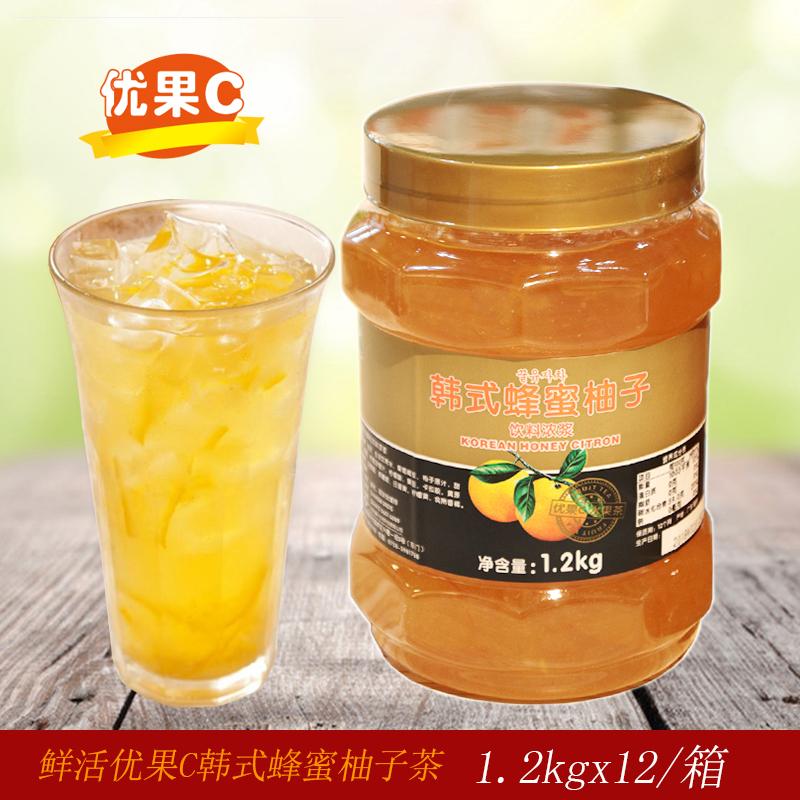 鲜活韩式蜂蜜柚子茶1.2 kg 优果C水果茶夏季饮料冲饮奶茶店原料