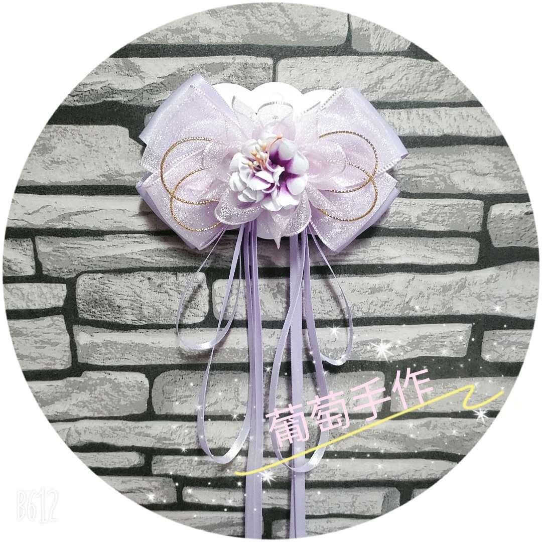 春夏新款儿童飘带发卡纯手工制作薄纱花朵丝带古风汉服发饰