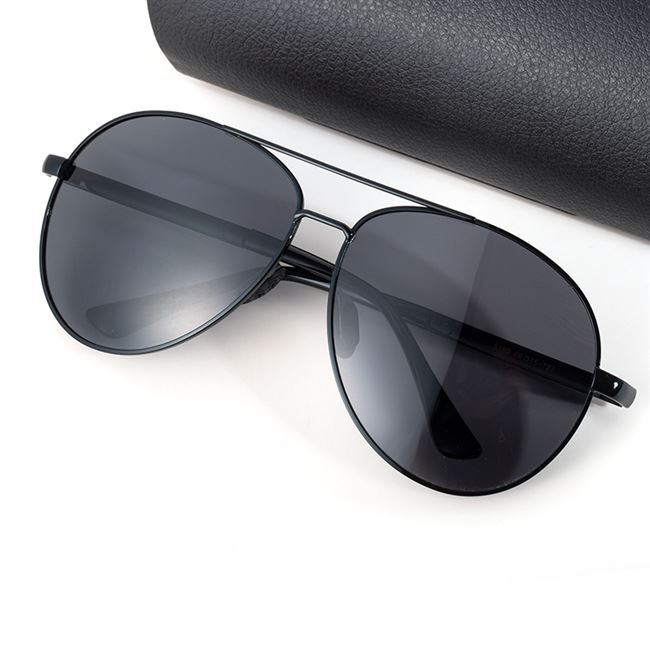 Authentic fat Polarized Sunglasses mens trendy fat face glasses giant toad glasses mens driving large face Sunglasses