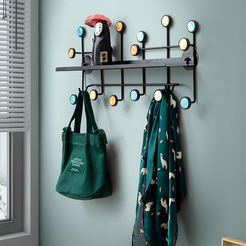 玄关挂钩壁挂墙壁挂衣架置物架