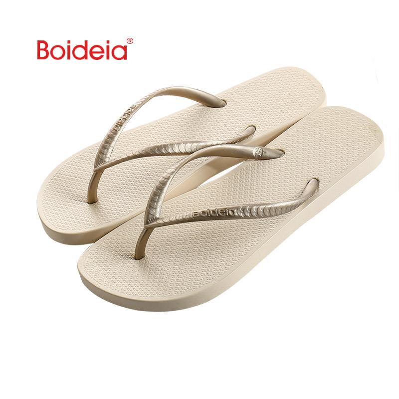 Flip flops womens summer fashion new antiskid fashion soft sole anti-wear clip foot beach shoes wear deodorant Korean version