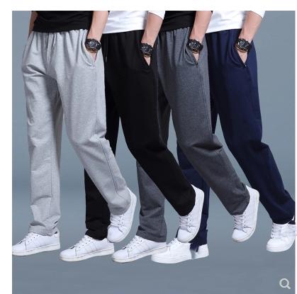 手慢无夏季男士宽松直筒夏裤全棉运动裤