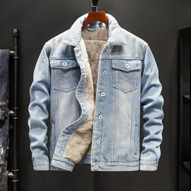 冬季加绒加厚牛仔外套男士韩版保暖夹克衫潮流男装学生休闲牛仔衣