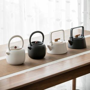 草木祠 陶壶五行陶瓷烧水壶煮茶器电热泡茶水壶电陶炉功夫茶具