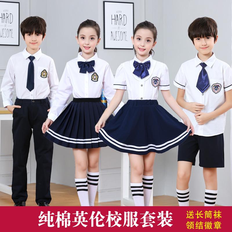 中小学生大合唱表演服装儿童合唱团朗诵演出服英伦风校服毕业拍照