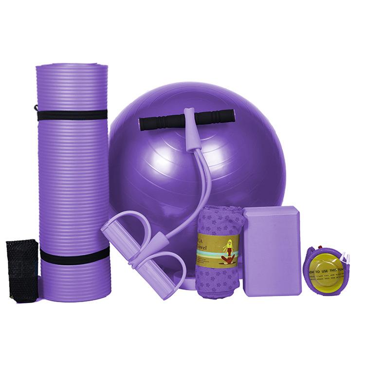 初学者瑜伽垫五件套装健身套装塑性健身男女士通用瑜伽球瑜伽铺巾,可领取10元天猫优惠券