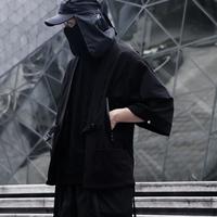 WHYWORKS赛博朋克机能道袍五分夹克暗黑忍者风衣潮防晒衣外套和服