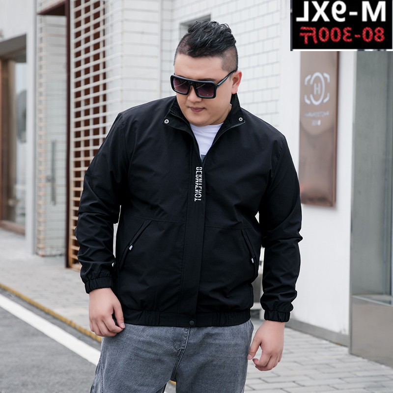 Personality trend fat jacket mens jacket spring and autumn winter fat increase size super large leisure loose oversize prevention