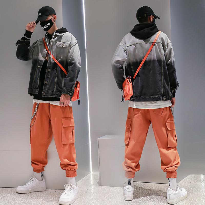 男士秋装春秋款嘻哈个性宽松夹克(用62.1元券)