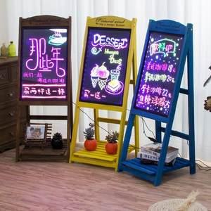 饭店电子荧光板广告板户外门免安装支架单双面夜光屏小号夜光板