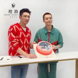 【橙路】2021新创意数码照片打印淡奶油生日蛋糕上海杭州宁波