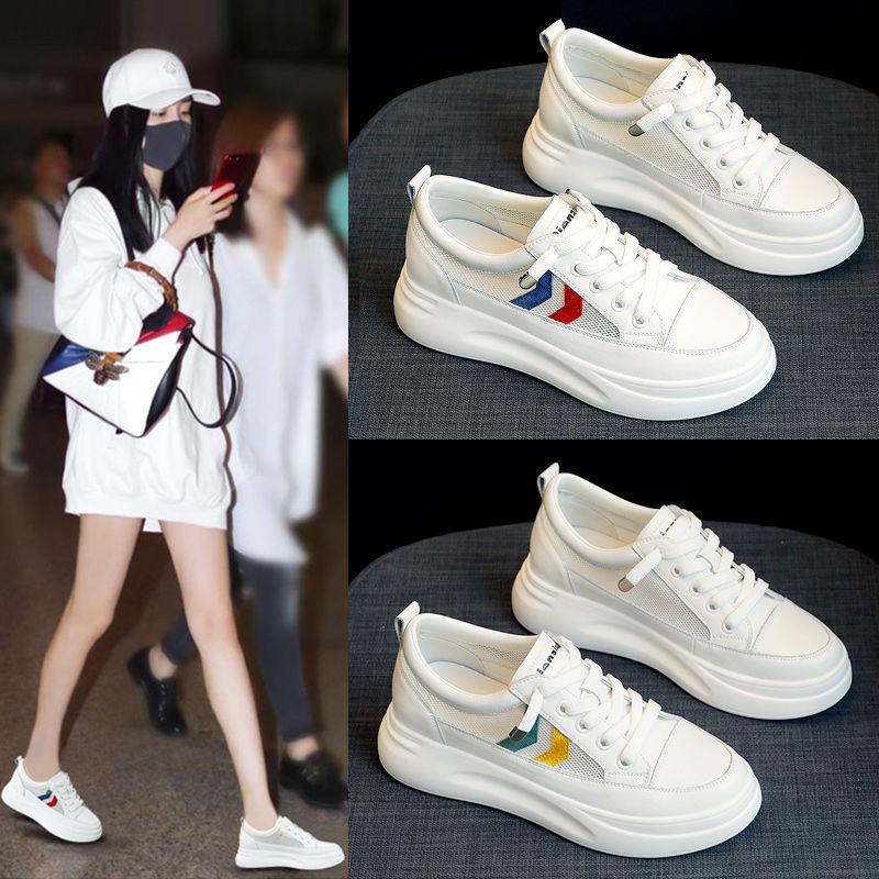 网面小白鞋女学生2021春夏新款韩版百搭老爹鞋ins透气平底单鞋女