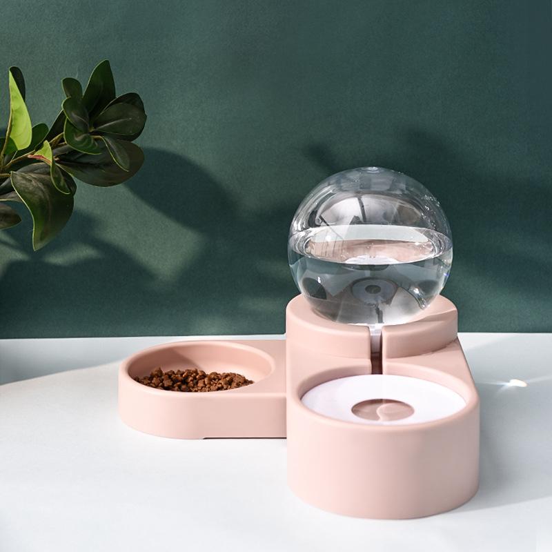 猫咪自动喂食器饮水机猫粮喂食机智能投喂器饮水一体猫投食器双碗