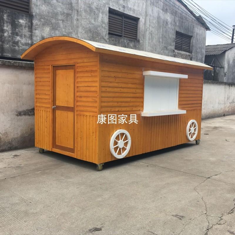 户外售货亭奶茶屋厂家直销定制景区防腐木商业街木质餐车零售花车