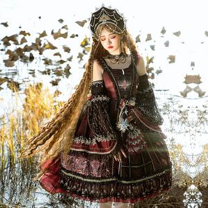 樱洛芙lolita裙原创新品 红心之眼JSK 复古宫廷风
