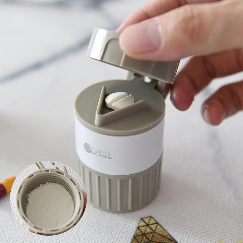 便携药盒分装随身迷你切药器儿童药片磨药磨粉研磨器切割碾碎盒子