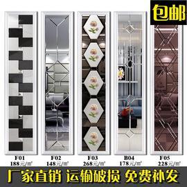 艺术玻璃电视背景墙边框造型装饰框茶镜菱形拼镜客厅餐厅拼墙镜面