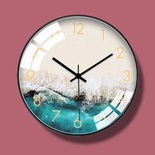 北欧个性轻奢创意时尚大钟表挂钟现代简约客厅欧式静音石英钟时钟