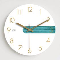 現代簡約掛鐘客廳北歐輕奢時鐘掛墻創意家用臥室靜音家居石英鐘表