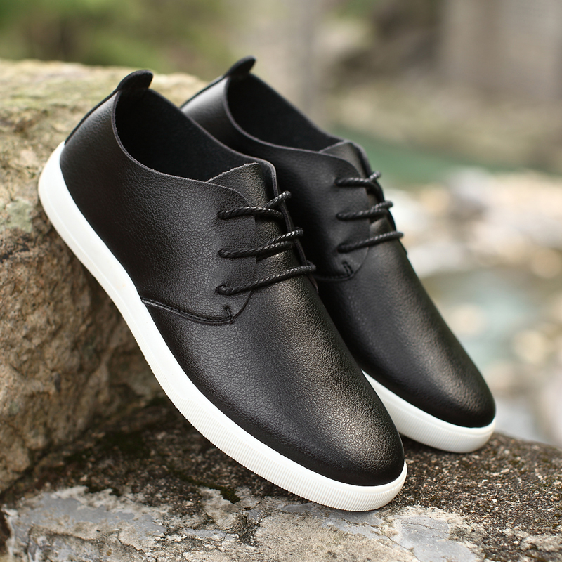 Autumn new soybean shoes mens casual leather shoes driving fashion shoes lazy personality versatile Korean one legged mens shoes