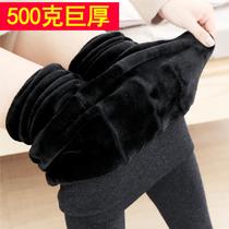 冬季高腰外穿超厚七彩棉裤加绒加厚打底裤女保暖紧身大码一体裤