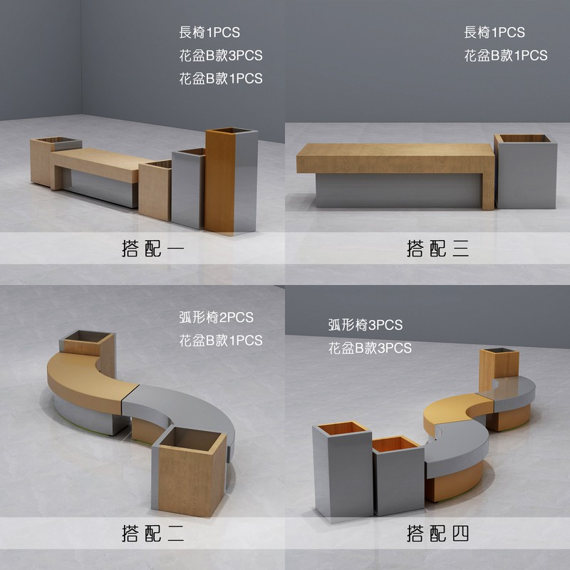 玻璃钢休闲椅系列美陈室内外各种公共场所环形大型坐凳厂家直销