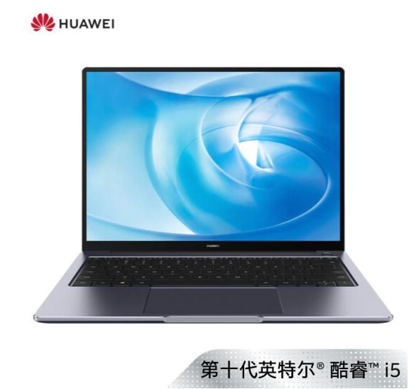 Huawei/华为 MateBook 14 KLV-W19L学生家用办公电脑2020款十代I5