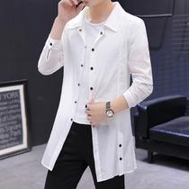 夏装轻薄款风衣外套男士韩版潮流中长款防晒衣服男装户外超薄夹克