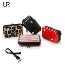 Ur suitcase bag small messenger personalized women's one shoulder autumn winter Mini Travel password box Trolley Case lovely leisure