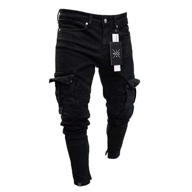 Mens stretch jeans and short trousers