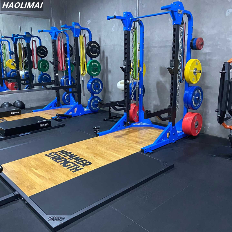 Professional Hummer high end squatting frame weight lifting hard pull competitive platform adjustable dumbbell stool barbell bar horizontal push training equipment