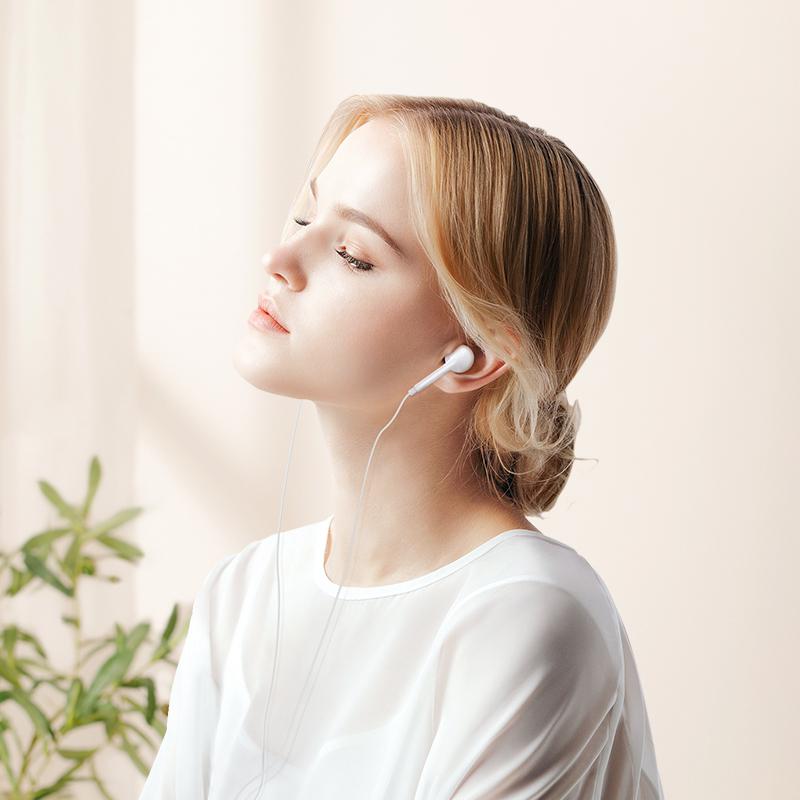 楠思 耳机适用iPhone苹果X/6s/6手机11入耳式7/8/x/7p/xsmax/XR/plus/pro有线lightning原装扁头正品耳塞圆头