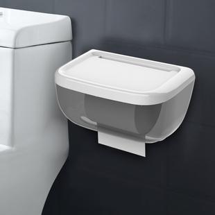 厕所免打孔防水手纸盒卷纸筒置物架