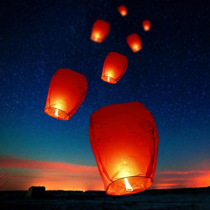 河灯许愿灯孔明灯安全型古风创意中式浪漫求婚表白祈福安全型水灯